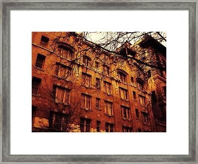 Europe In Portland Framed Print by Cathie Tyler