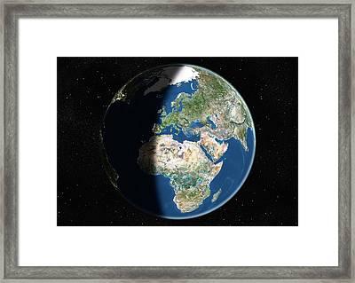 Europe, Satellite Image Framed Print by Planetobserver