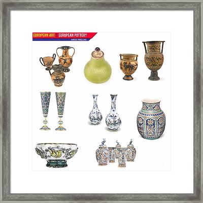 European Art European Pottery - Various Porcelain Framed Print by Celestial Images