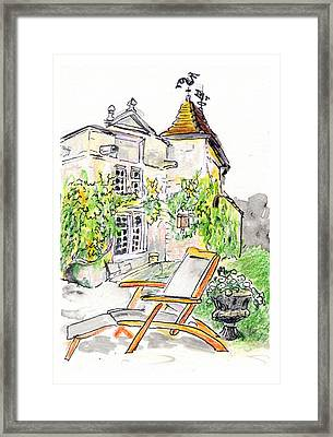 Framed Print featuring the painting European Chateau Lounge Chair by Tilly Strauss