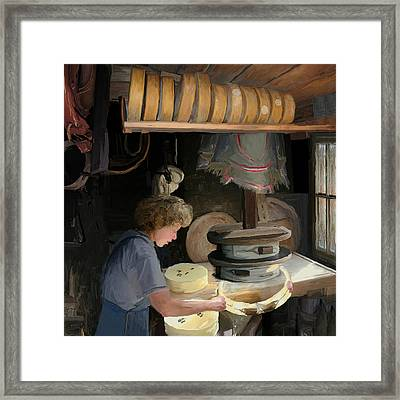 European Cheesemaker Framed Print by Carol Peck