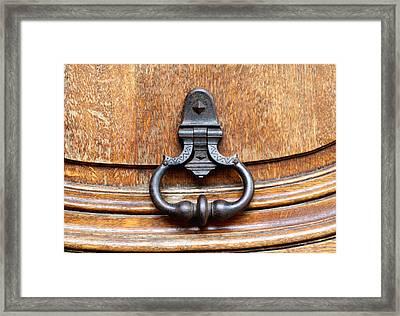 European Door Knocker Framed Print by Greg Sharpe