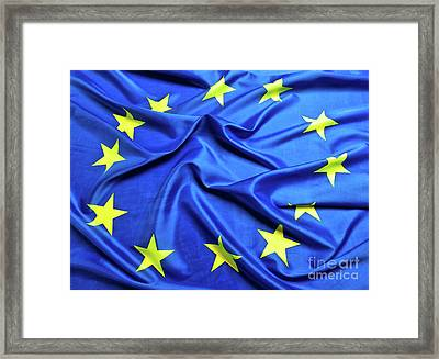 European Flag Background Framed Print by Gualtiero Boffi
