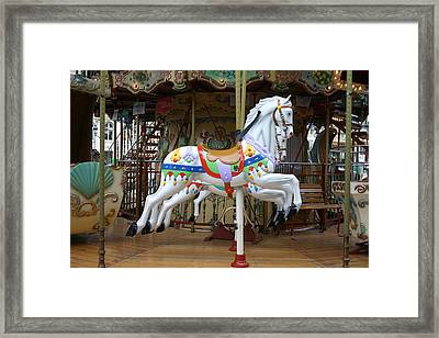 European Merry Go Round Framed Print by Dennis Curry