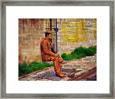 European Street Performer Framed Print