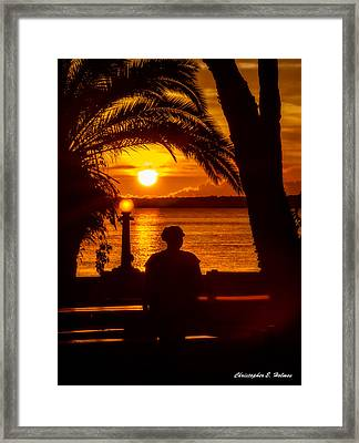 Framed Print featuring the photograph Eustis Sunset by Christopher Holmes