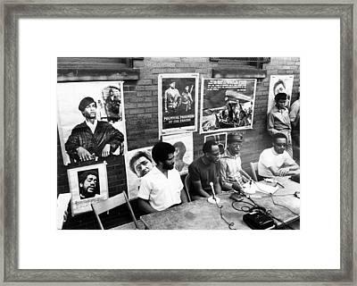 Ev1817 - Black Panther Party Press Framed Print