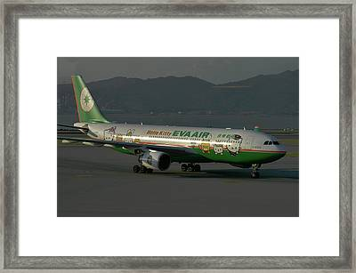 Framed Print featuring the photograph Eva Air Airbus A330-203 by Tim Beach