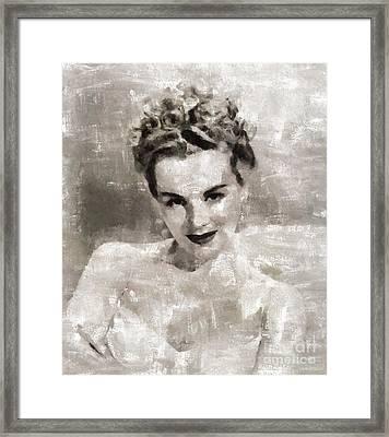 Eva Gabor, Actress Framed Print by Mary Bassett