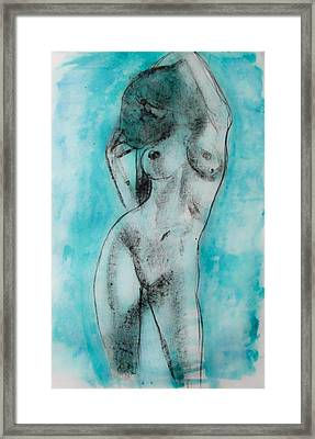 Framed Print featuring the painting EVA by Jarko Aka Lui Grande