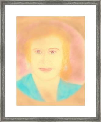Eva Peron Soft Focus Gold Framed Print by Richard W Linford