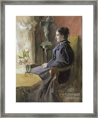 Eva Upmark, 1896  Framed Print
