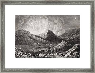 Evacuation Of Cumberland Gap Tennessee Framed Print by Vintage Design Pics
