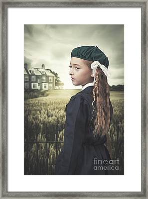 Evacuee Girl Framed Print by Amanda Elwell