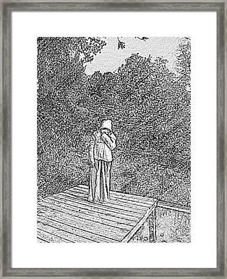 Evangeline Weeping  Framed Print by Seaux-N-Seau Soileau