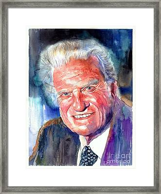 Evangelist Billy Graham Framed Print
