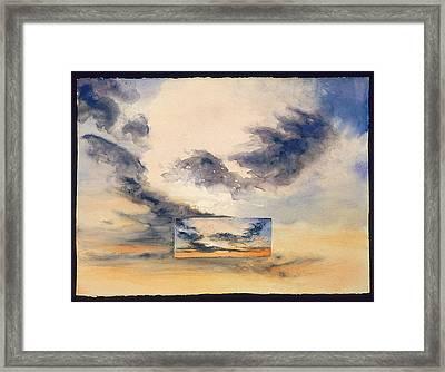 Evanston Sunset Framed Print by Nancy  Ethiel