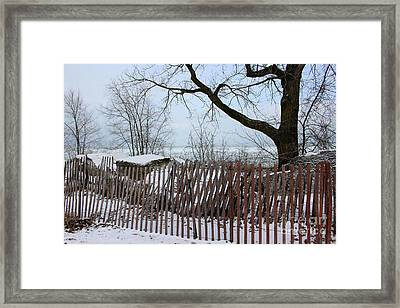 Evanston Winter Framed Print