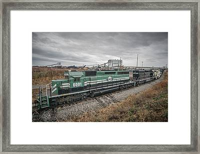 Evansville Western Railway At Warrior Coal With 6001 Nebo Ky Framed Print
