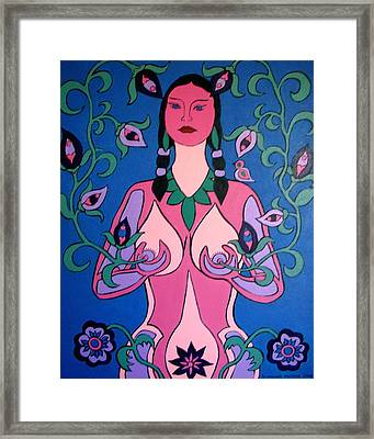 Framed Print featuring the painting Eve Awakened by Stephanie Moore