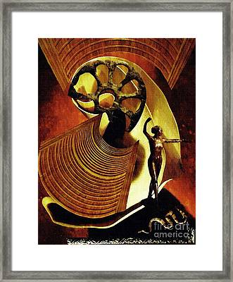 Eve Balanced On A Tightrope Framed Print
