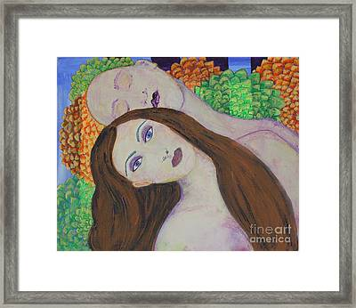 Eve Emerges Framed Print by Kim Nelson