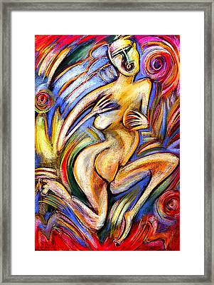 Eve In The Garden Framed Print by Angelina Marino