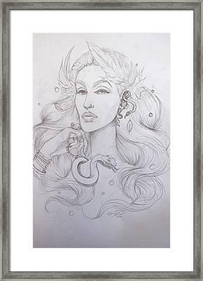 Eve Sketch Framed Print by Erica Elizabeth