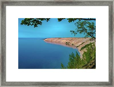 Eveing Light On Grand Sable Banks Framed Print