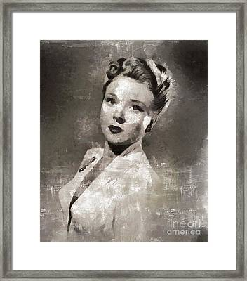 Evelyn Ankers, Actress Framed Print by Mary Bassett