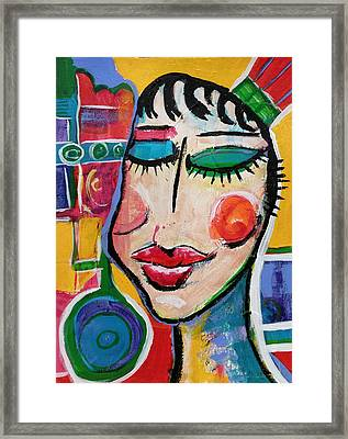 Evelyn - Vivid Vixen 5 Framed Print