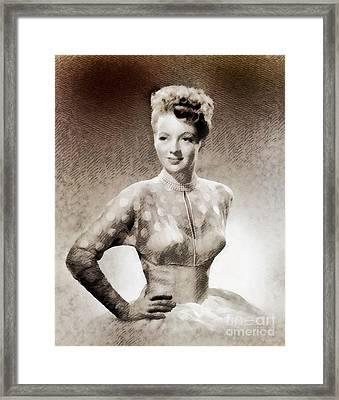 Evelyn Keyes, Vintage Actress By John Springfield Framed Print by John Springfield
