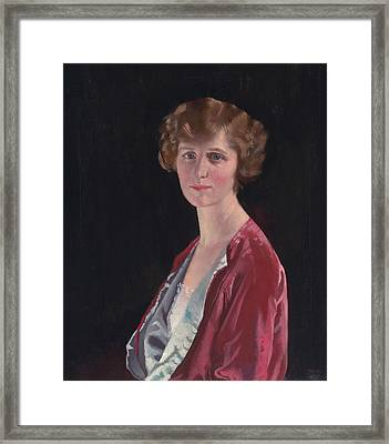 Evelyn Marshall Field Framed Print by William Orpen