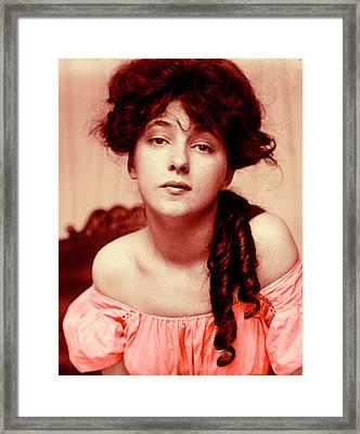 Evelyn On Aquarell Framed Print by Steve K