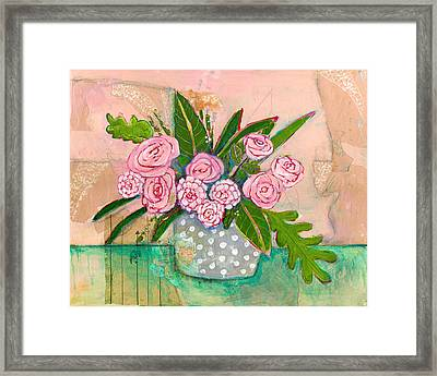 Evelyn Rose Flowers Framed Print
