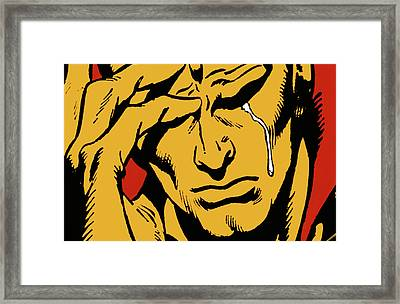 Even An Android Can Cry Framed Print by Brian Middleton