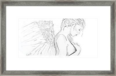 Even Angels Cry Without Quote Framed Print