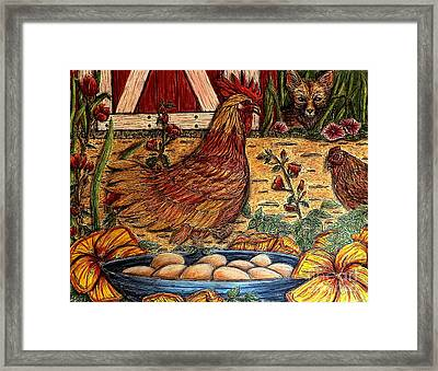 Even Chickens Can Be Heroes Framed Print
