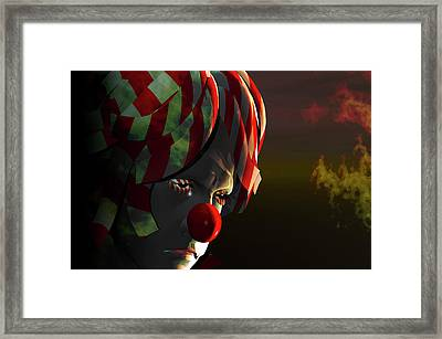 Even Clowns Get The Blues Framed Print by Carol and Mike Werner