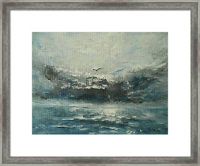 Even If The Skies Get Rough Framed Print