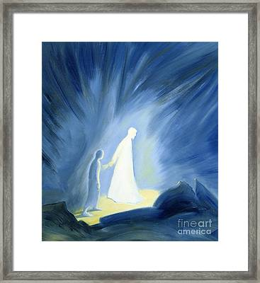 Even In The Darkness Of Out Sufferings Jesus Is Close To Us Framed Print by Elizabeth Wang