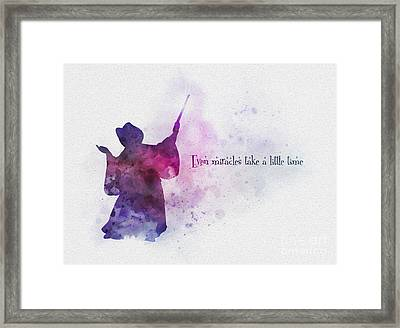 Even Miracles Take A Little Time Framed Print by Rebecca Jenkins