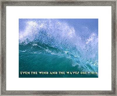 Even The Wind  Framed Print by Philip McDonald