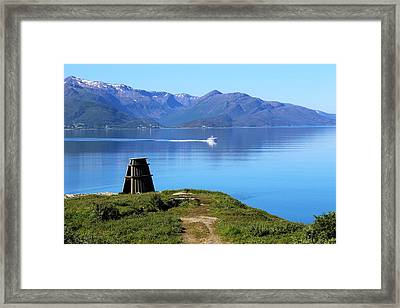 Evenes, Fjord In The North Of Norway Framed Print