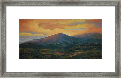 Evening Ablaze Framed Print by Gary Gore
