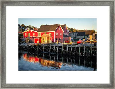 Evening Along The Lunenburg Waterfront Framed Print by Carolyn Derstine