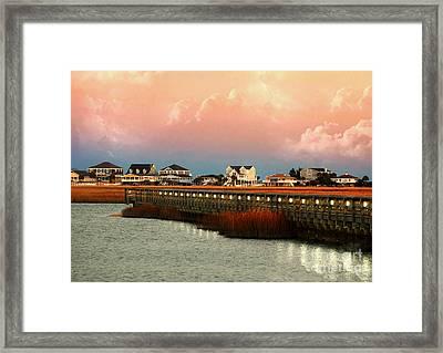 Evening Along The Marshwalk Framed Print