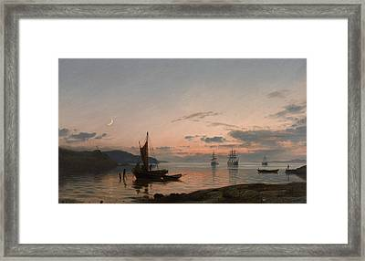 Evening Framed Print by Amaldus Nielsen