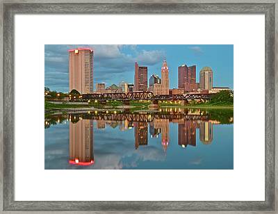 Evening Approaches In Columbus Framed Print by Frozen in Time Fine Art Photography