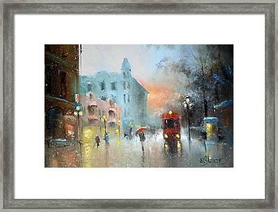 Evening Arbat Framed Print